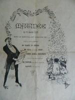 Albert Guillaume Ilustración Del Programa Musical 1893
