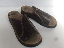 Ladies Brown Leather Dr Martens Sandals Mules Uk6 EU39 Air Cushion Soles
