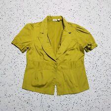 Cato Women's 1 Button Blazer ~ Sz L ~ Green ~ Short Sleeve