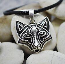 Antiguo Colgante Collar De Plata 925 PLT Fox, señoras para Hombre Regalo Viking Norse