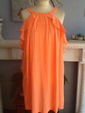 H&m Conscious Collection Kleid neon orange passt UK 8 und 10