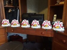6 (six) Disney Mickey, Minnie, & Goofy Christmas Stocking Hanger.  Brand new !!