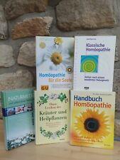 Bücher, 5 St., klassische Homöopathie, Naturmedizin, Kräuter u. Heilpflanzen