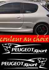 lot 2 Stickers Autocollant Sponsor Peugeot Sport sticker tunning racing
