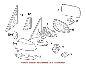 For BMW Genuine Door Mirror Cover Front Right Upper Outer 51168050476