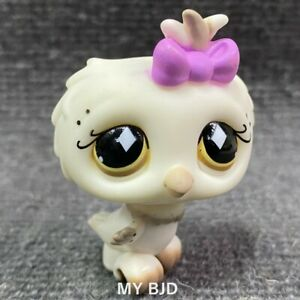 "Littlest Pet Shop LPS Night Owl White Bird Animal 2"" Figure Kids Toys Doll Gift"