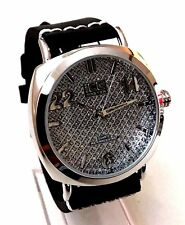 Men's Casual Watch Ice Master BM1294 Black Leather Band Silver Case