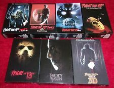 NECA REEL TOYS FRIDAY THE 13th HORROR MOVIE FIGURES LOT (7) FACTORY SEALED