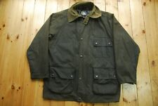 Vintage Official Ford Outdoor Clothing Green Waxed Country Jacket Coat XL