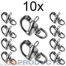 10x 87mm A4-AISI 316 Stainless Steel Swivel Snap Shackle FREE P + P!