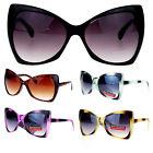 Womens Designer Fashion Oversized Butterfly Cat Eye Gradient Lens Sunglasses
