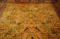 C 1910s ANTIQUE PRIVATE ESTATE PALACE SIZE INDIAN AGRA RUG 11x17.8 DRAGON DESIGN