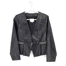Hal Rubenstein Disney Cinderella Collection Womens Size M Black Leather Jacket