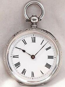 Swiss Silver Pocket watch. (FULL WORKING ORDER) *1886* Birmingham Mark !