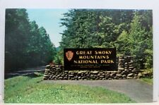 Great Smoky Mountains National Park Entrance Postcard Old Vintage Card View Post