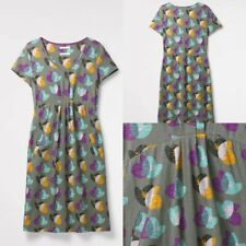 NEW RRP £55.00 Ex  White stuff Take A Flight Dress In Sage Gy print       (SS40)