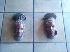 Mid Century Mangbetu African German Achatit Werkstaetten Ethno Design Wall Masks