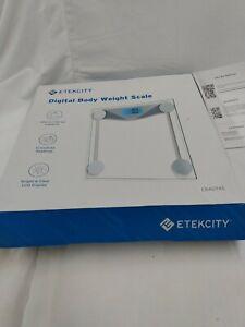 LS-8 Etekcity Digital Body Weight Bathroom Scale Clear (Used)