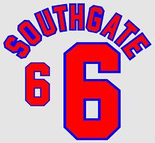 World Cup 1998 Southgate 6 England Home Football Name set for National shirt