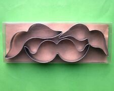 Free shipping Moustache, sideburns, whiskers baking postry cookie cutter set