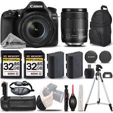 Canon EOS 90D DSLR Camera with 18-135mm IS USM Lens +BATT GRIP +EXT BATT +64GB