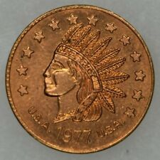 13 star Obverse Indian Head Advertising Error Token Blank Reverse Unstruck