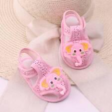 Fashion Baby Girl Boy Summer Cartoon Elephant Pattern Soft Sole Shoes  Toddler