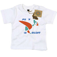 My P is Silent T Shirt Gift for Newborn Baby or Toddler Dino Smalls
