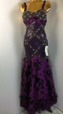 Sherry Hunte Couture Stunning Beaded Floral Sweet 16, Evening Purple Gown 6