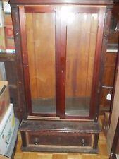 Vintage Victorian Bookcase Display Cabinet