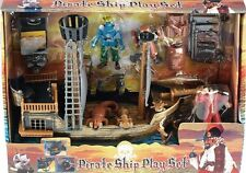 Childrens PIRATE SHIP PLAY SET | Red Pirates | Cannon treasure Pretend Toy 847