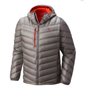 Mountain Hardwear Men's Stretchdown RS Hooded Down Jacket Manta Grey 1676901-073