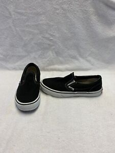 Vans Off The Wall Boys Black/white Shoes~size 3.5 Y