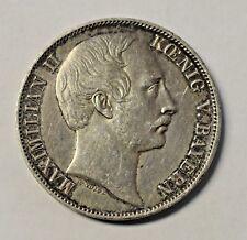 Antique 1860 Koenig Bayern 90% Silver Coin ~ MAXIMILIAN II