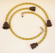 John Deere M MT MC 40 40T Deluxe Green Cloth Copper Core Spark Plug Wires Set