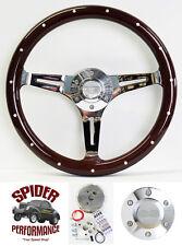 "1967-1968 Impala Caprice Biscayne steering wheel SS 15"" DARK MAHOGANY WOOD"