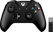 Microsoft - Xbox Wireless Controller + Wireless Adapter - Windows 10 - Black