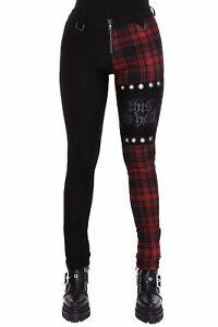 Killstar Two Faced Skinny Plaid Punk Rock Gothic Grunge Jeans Pants KSRA002154