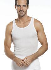 2 Men's Gem Rock White A-Shirts Rib Tank Top Muscle Shirts Size 5X-Large NWT!