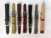 Crocodile Patent High Quality Leather Watch Band Strap 8,10,12,14,16,18,20,22mm