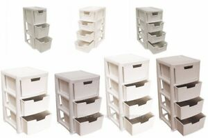 RATTAN STYLE PLASTIC STORAGE TOWERS - MINI / LARGE - STRONG - HOME - BATHROOM
