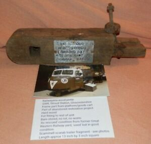 Vintage GWR wood pintle Scammell Scarab trailer