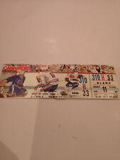 Montreal Canadiens UNUSED RARE Hockey TICKET NOV. 11 1990. Québec Nordiques.