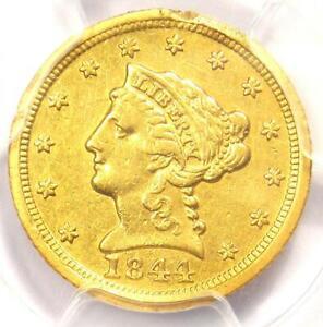 1844-D Liberty Gold Quarter Eagle $2.50 - PCGS AU Details - Rare Dahlonega Coin!
