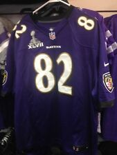 TORREY SMITH NFL SUPER BOWL 47 GAME JERSEY BRAND NEW RAVENS #82 SIZES  XL & XXLG