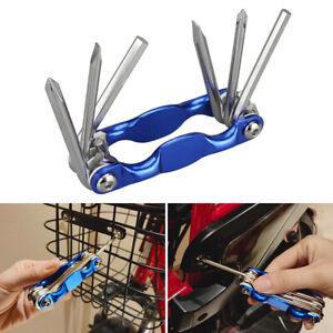 Mini Repair Pocket Folding Tool 6 In 1 Bicycle Bike Tool Set Multi Tools Wrench