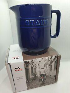 Staub Ceramic Jug Navy 0.25l Dishwasher Safe Small Kitchen Vase New In Box Gift