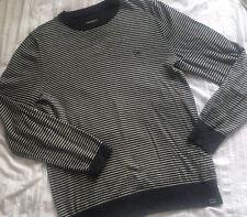 Men's FAT FACE Navy Stripe Cashmere Blend Jumper Size Medium