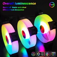 6 Pack RGB LED Quiet Computer Case PC Cooling Fan 120mm with 1 Remote Control AU