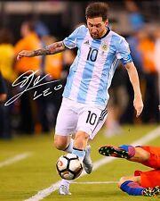 LIONEL MESSI #9 (ARGENTINA) - 10X8 PRE PRINTED LAB QUALITY PHOTO PRINT